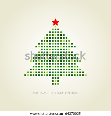 dotted christmas card - stock vector