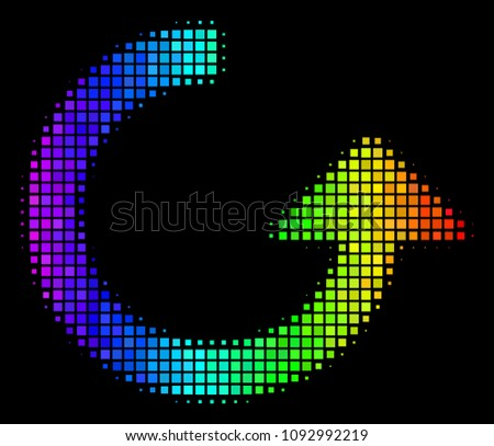 dotted colorful halftone rotate