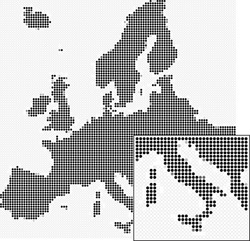 Dotted Europe map