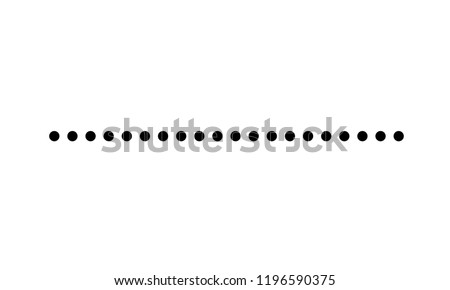 dotted line simple shape vector symbol icon design. Vector illustration