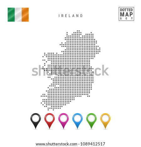 dotted map of ireland simple