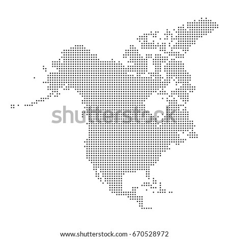 dotted map of north america
