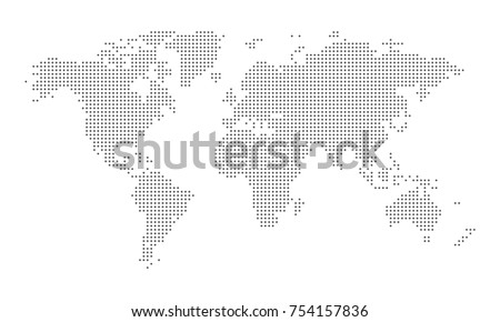 Dotted map of World. Vector eps10 #754157836