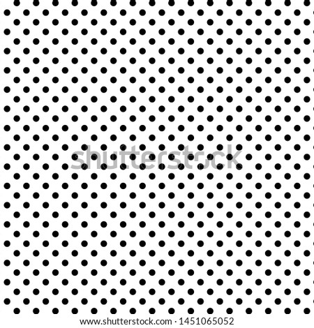 Dotted pattern. Black repeat dots on white background. Dotted abstract texture. Decorative wallpaper template. EPS 10