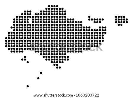 Dotted Singapore Map Vector - Download Free Vector Art, Stock ...