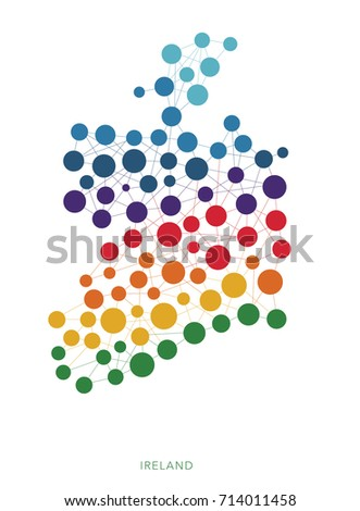 dotted texture ireland vector