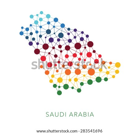 dotted texture Saudi Arabia vector background on white