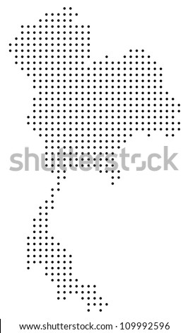 Dotted Thailand map