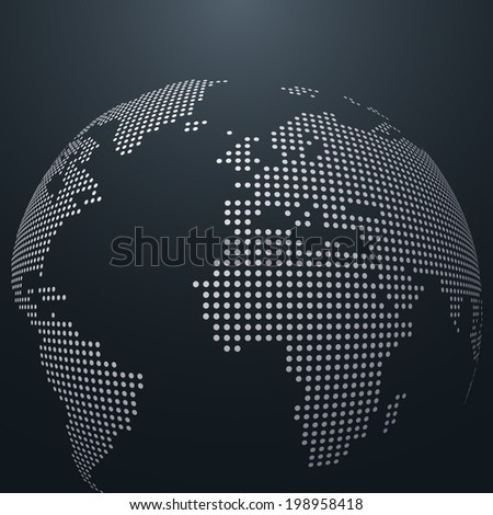dotted vector globe