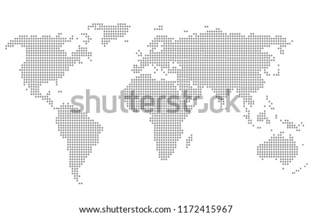 Dotted world map. #1172415967
