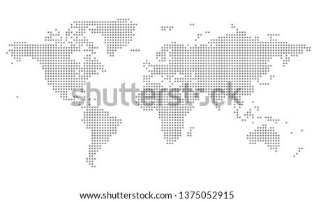 Dotted world map #1375052915