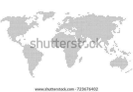 Dotted world map. #723676402