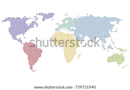 Mapa mundi vectorial descargue grficos y vectores gratis dotted world map gumiabroncs Images