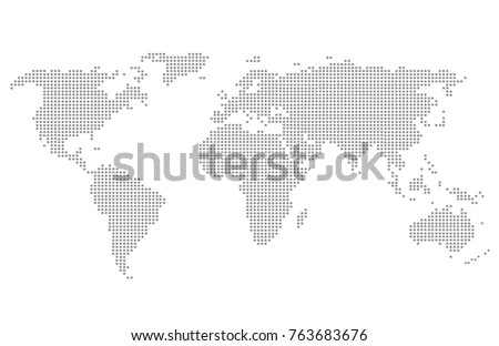 Dotted world map.