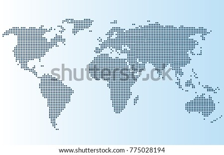 World map silhouette download free vector art stock graphics images dotted world map gumiabroncs Choice Image