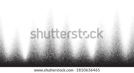 Dotwork pattern vector background. Black noise stipple dots. Sand grain effect. Black dots grunge banner. Abstract noise dotwork pattern. Gradient stipple circles. Stochastic dotted vector background.