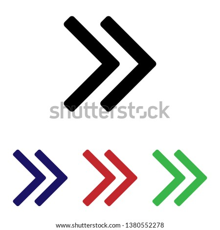 Double angle pointing vector icon