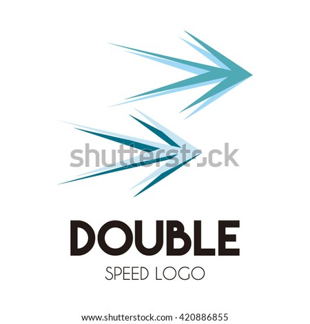 double arrow shape abstract