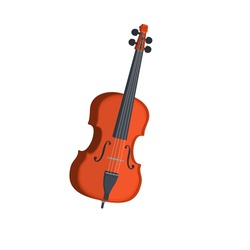 Double bass. Musical instrument, vector illustration