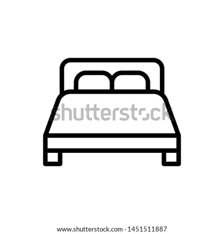 Double bed icon vector design template