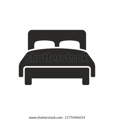 Double bed vector icon
