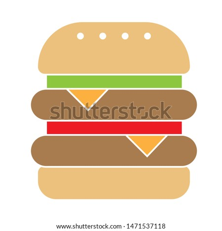 Double burger icon. flat illustration of Double burger - vector icon. Double burger sign symbol