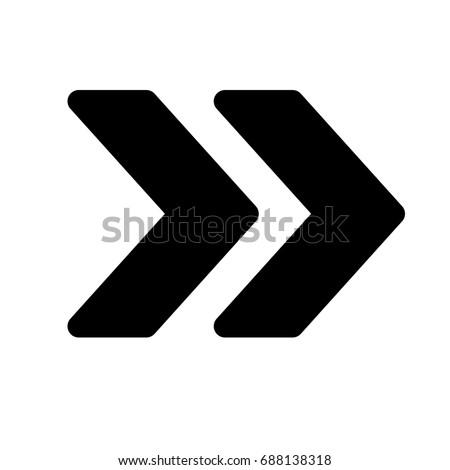 double chevron arrow - Shutterstock ID 688138318