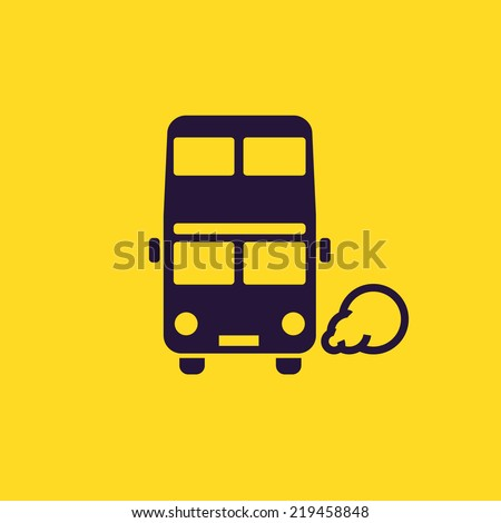 double decker bus icon. london...