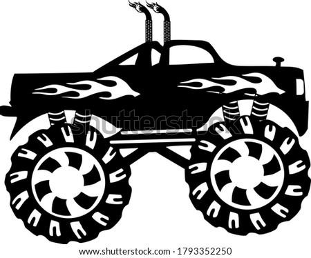 double exhaust monster truck on