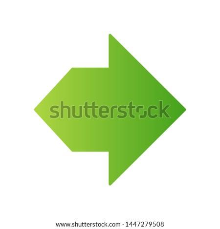 double green arrow flat design