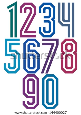 Double Line Geometric Numbers
