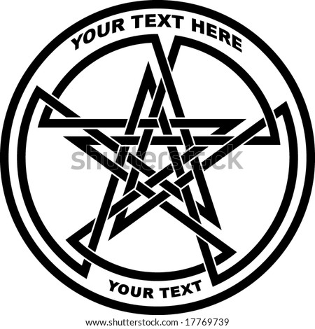 stock vector : double pentagram - tattoo, t-shirt design