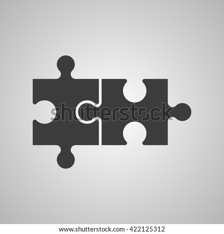 double piece flat puzzle round