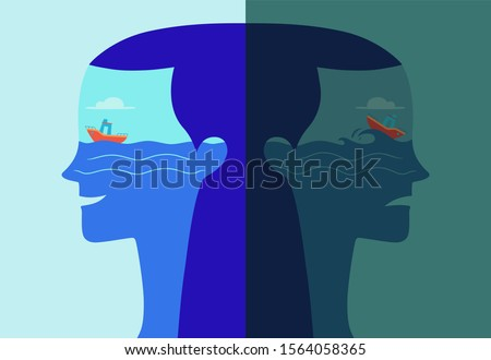 double profile portrait of a