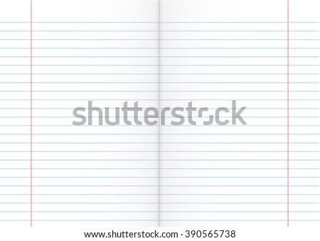 Double Sheet Of Lined Paper  Double Lined Paper