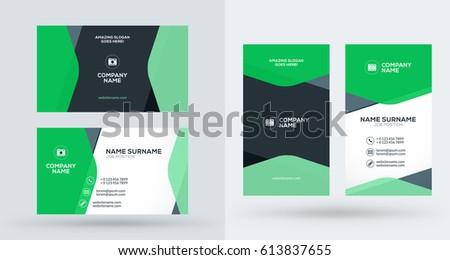 Stylish creative vertical business card template download free double sided creative business card template portrait and landscape orientation horizontal and vertical accmission Gallery