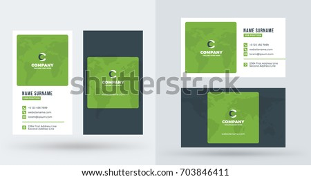 stylish creative vertical business card template download free
