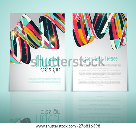 double sided flyer design download free vector art stock graphics