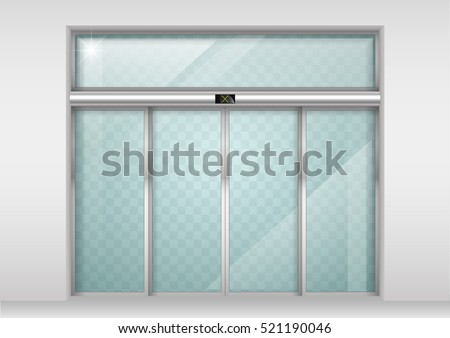 double sliding glass doors with ...