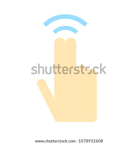 Double tap finger - pointer finger icon - vector cursor symbol, touch symbol - mouse sign