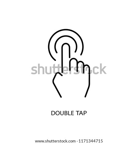 Double tap vector icon. Double click illustration