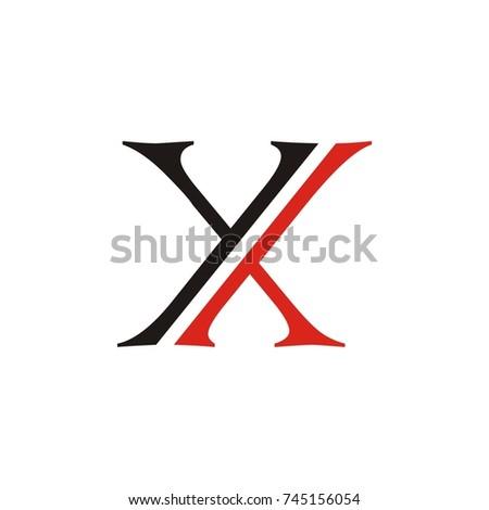 double Y or Y Y and X letter vector logo