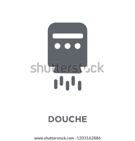 douche icon. douche design concept from Hygiene collection. Simple element vector illustration on white background.