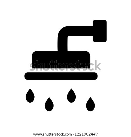 douche icon. Trendy douche logo concept on white background from Hygiene collection. Suitable for use on web apps, mobile apps and print media.