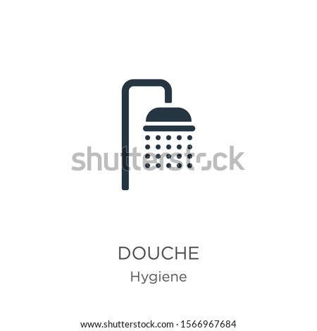 Douche icon vector. Trendy flat douche icon from hygiene collection isolated on white background. Vector illustration can be used for web and mobile graphic design, logo, eps10