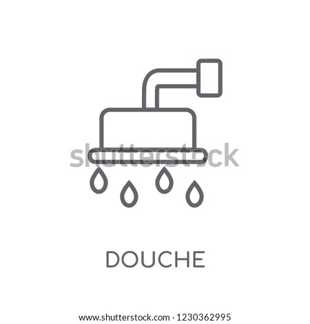 douche linear icon. Modern outline douche logo concept on white background from Hygiene collection. Suitable for use on web apps, mobile apps and print media.