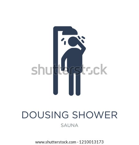 Dousing Shower icon. Trendy flat vector Dousing Shower icon on white background from sauna collection, vector illustration can be use for web and mobile, eps10