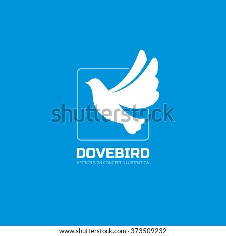 dove bird   vector logo