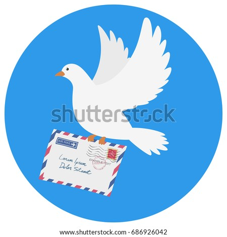 dove carrying an envelope