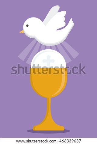 dove cup gold religion icon